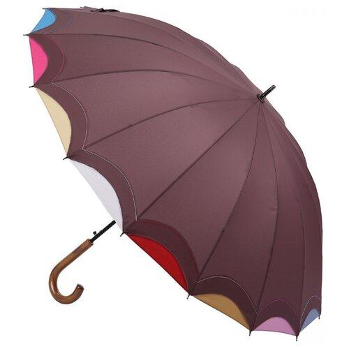 Фото - Зонт-трость полуавтомат Три слона 1100 бордовый зонт трость полуавтомат три слона 1100 бордовый