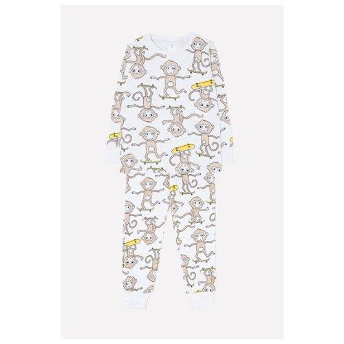 Пижама crockid размер 92, серый/коричневый