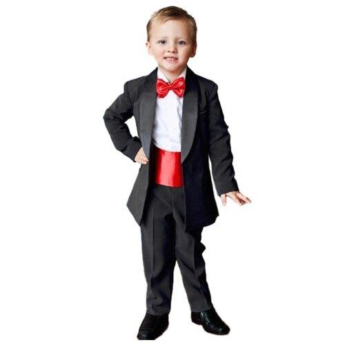 Комплект одежды Liola размер 140, черный/красный комплект одежды liola размер 134 белый красный