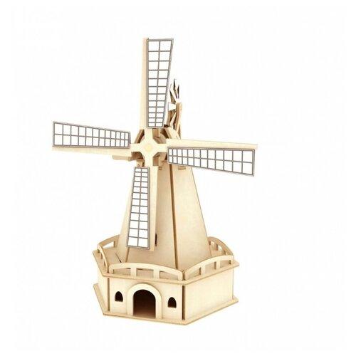 Купить 3D деревянный пазл Robotime Солнечные механизмы Ветряная мельница, Сборные модели