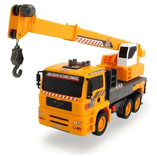 Фото - Автокран Dickie Toys AirPump (3806003029) 31 см желтый/черный погрузчик dickie toys дорожно погрузочная машина 3726000 35 см желтый белый