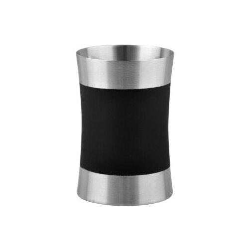Стакан для зубных щеток WasserKRAFT Wern K-7528 хром/черный
