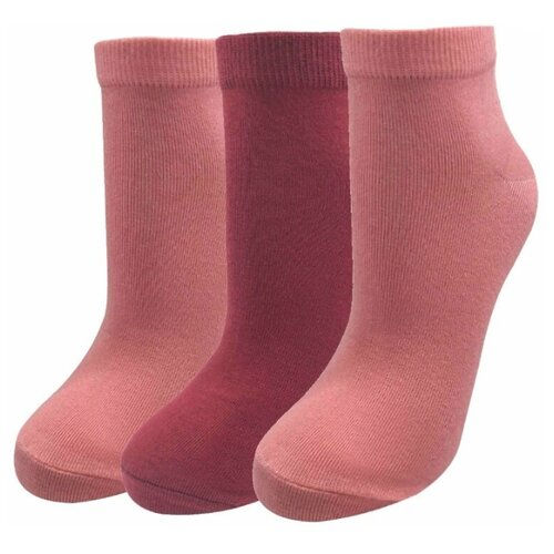 Носки женские 3 пары арт. МЛ-4(23)( 2 пары розовый, 1 пара бордо) р-р 23