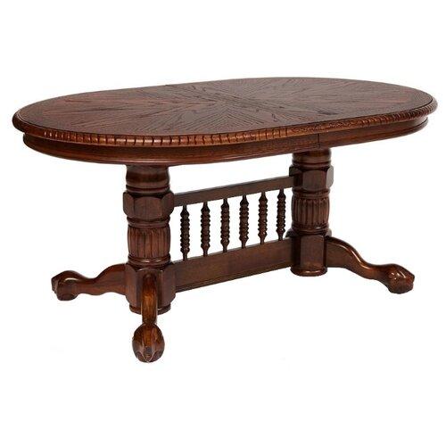 Стол кухонный TetChair Oakland SWC (4296-SWC), раскладной, ДхШ: 164 х 107 см, длина в разложенном виде: 244 см, темный орех