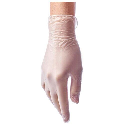 Перчатки Benovy виниловые одноразовые, 50 пар, размер XL, цвет прозрачный