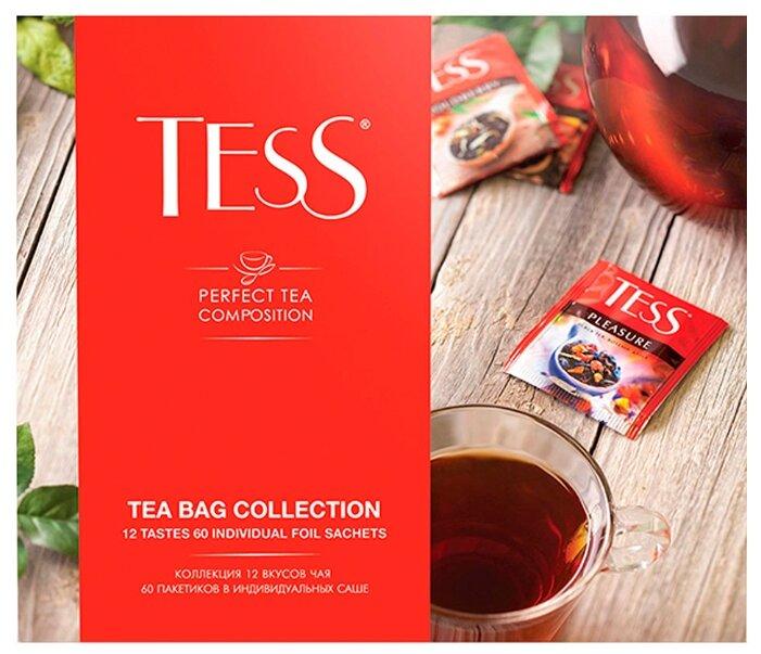 Чай Tess Pyramid collection ассорти в пирамидках подарочный набор, 45 шт.