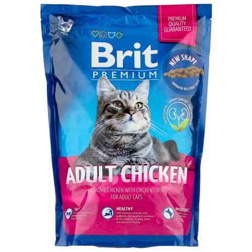 Сухой корм для кошек Brit Premium, с курицей 1.5 кг