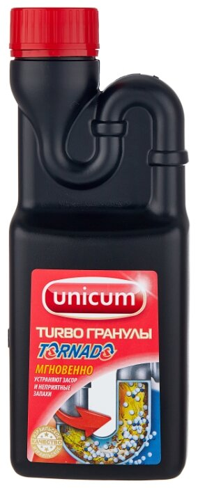 """Средство для удаления засоров Unicum """"Торнадо"""", гранулированное, 600 г"""