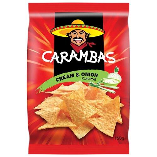 Чипсы CARAMBAS кукурузные Cream & Onion, 150 г
