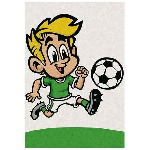 Molly картина по номерам Веселый футболист 20х30 см (KHM0006), Картины по номерам и контурам  - купить со скидкой