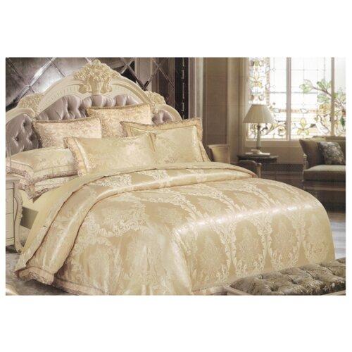Постельное белье 1.5-спальное Boris PS-19-150, полисатин бежевый, золотистыйКомплекты<br>