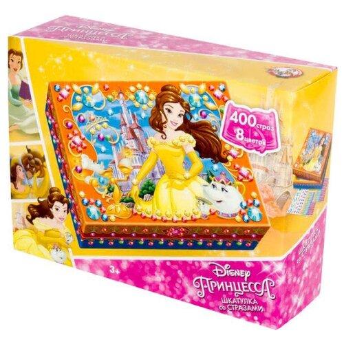 Купить Десятое королевство Шкатулка для декорирования стразами Принцесса Диснея Белль (01992), Поделки и аппликации