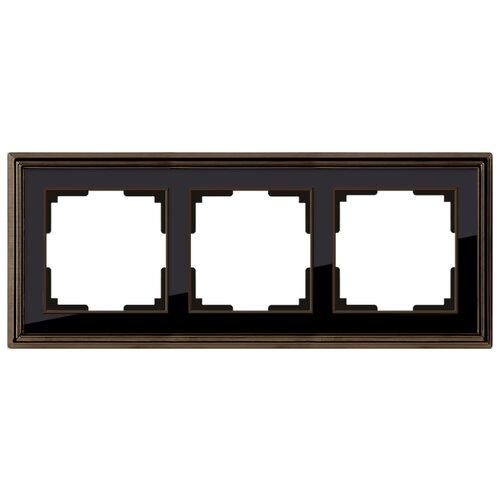 Фото - Рамка 3п WerkelWL17-Frame-03, бронза/чёрный рамка werkel antik бронза wl07 frame 02