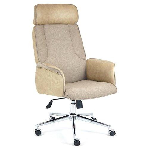 Компьютерное кресло TetChair Charm офисное, обивка: текстиль/искусственная кожа, цвет: коричневый/бежевый компьютерное кресло tetchair jazz офисное обивка искусственная кожа цвет бежевый коричневый 4230