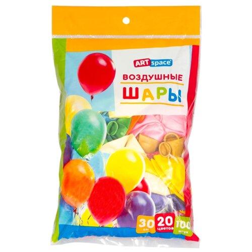 Набор воздушных шаров ArtSpace BL_16094 металлик (100 шт.) ассорти 20 цветов
