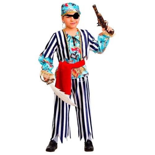Купить Костюм Батик Пират сказочный (5203), белый/синий, размер 146, Карнавальные костюмы