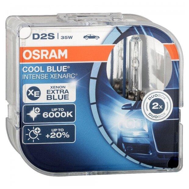 Лампа автомобильная ксеноновая Osram XENARC COOL BLUE INTENSE +20% D2S 66240CBI-HCB 35W 2 шт.