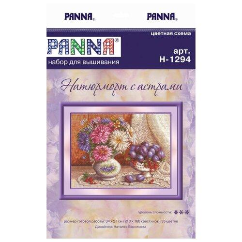 Купить PANNA Набор для вышивания Натюрморт с астрами 34 х 27 см (N-1294), Наборы для вышивания