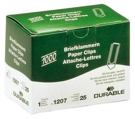 DURABLE Скрепки 26 мм (120725) (1000 шт.)