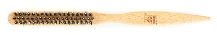 DEWAL Щетка для укладки волос Barber Style, натуральная щетина, 3х-рядная CO-27