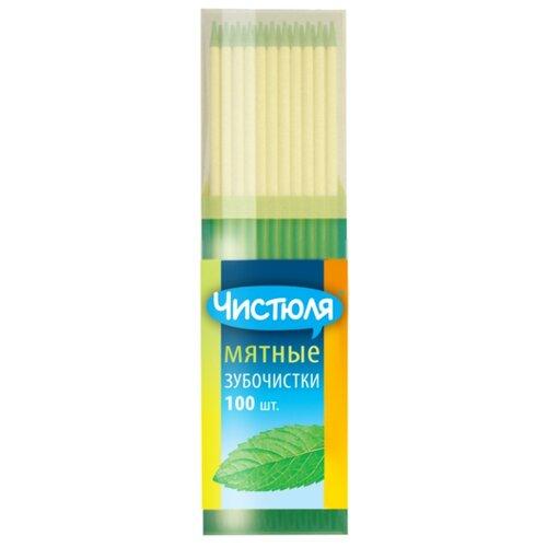 Чистюля зубочистки мятные, 100 шт