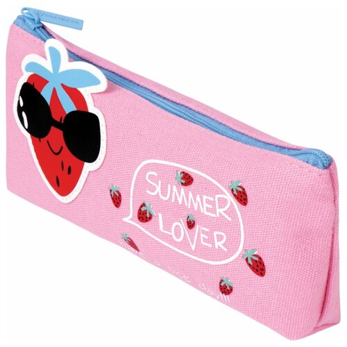 BRAUBERG Пенал-косметичка Cool Strawberry (228998) розовый