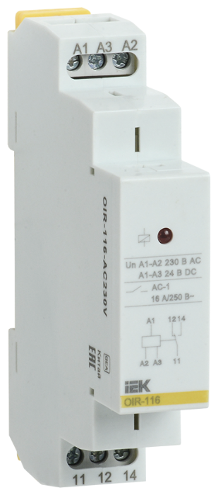 Промежуточное реле IEK OIR-116-AC230V — купить по выгодной цене на Яндекс.Маркете
