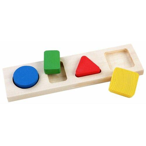 Рамка-вкладыш Томик Геометрия Малая (411), 4 дет. рамка вкладыш woodland 082101 монтессори геометрия 1