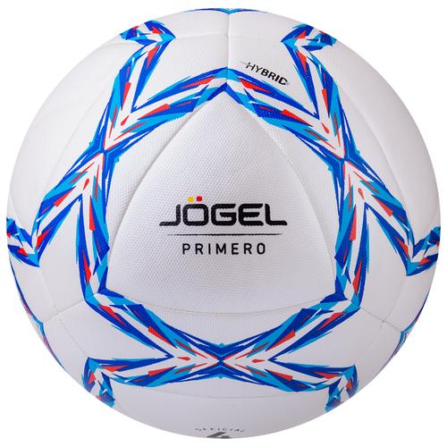 Футбольный мяч Jogel Primero белый/синий/красный 4