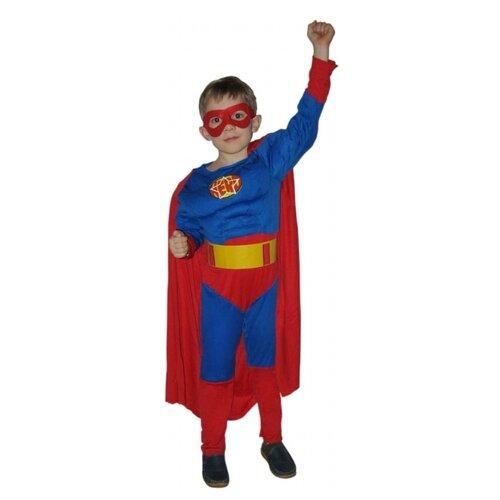 Карнавальный набор SNOWMEN Супермен с мускулатурой (Е70841), красный/синий, размер 4-6 лет костюм snowmen человек огонь е94758 красный черный размер 4 6 лет