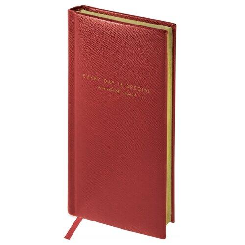 Купить Еженедельник OfficeSpace Dallas полудатированный, искусственная кожа, А6, 64 листов, бордовый, Ежедневники, записные книжки