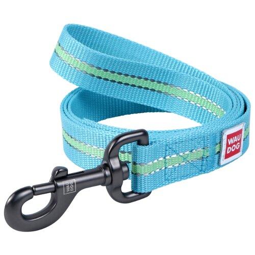 Поводок для собак WAU DOG Nylon голубой 1.22 м 15 мм