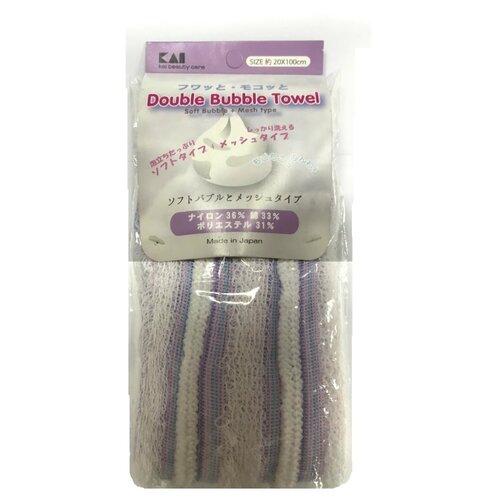 Мочалка KAI Мочалка для тела с объёмным плетением фиолетовый