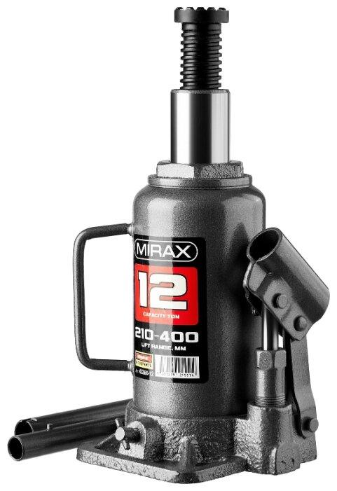 Домкрат бутылочный гидравлический Mirax 43260-12 (12 т) — купить по выгодной цене на Яндекс.Маркете