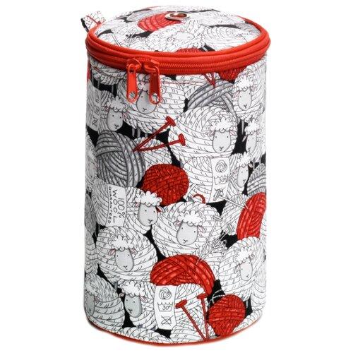 Купить Футляр Prym для рукоделия Merino ⌀14.5х21.5 см черный/белый/красный, Шкатулки для рукоделия