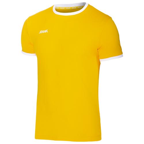 Футболка Jogel JFT-1010 размер XS, желтый/белый
