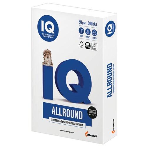 Фото - Бумага IQ Allround A3 80 г/м² 500 лист. 1шт. бумага iq color a3 80 г м² 500 лист голубой лёд obl70 1 шт