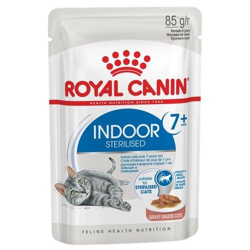 Корм для стерилизованных пожилых кошек Royal Canin для живущих в помещении 85 г (кусочки в соусе)