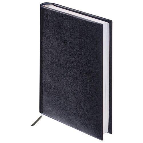 Купить Ежедневник BRAUBERG Select недатированный, искусственная кожа, А6, 160 листов, черный, Ежедневники, записные книжки