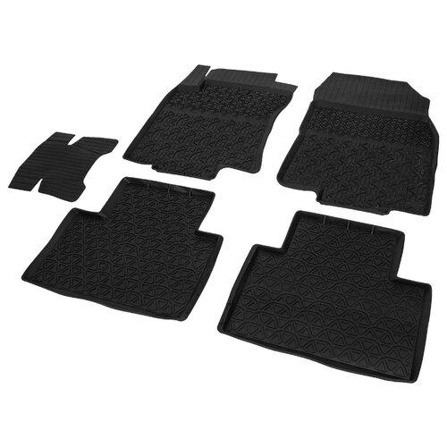 Комплект ковриков RIVAL 64706001 5 шт. черный