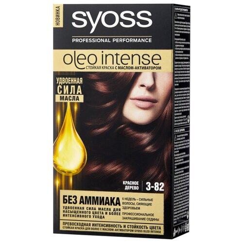 Syoss Oleo Intense Стойкая краска для волос, 3-82 Красное дерево syoss oleo intense краска для волос тон 7 10 натуральный светло русый 115 мл