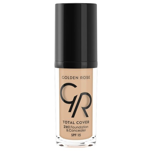 Golden Rose Тональный крем Total Cover 2in1 Foundation & Concealer, 30 мл, оттенок: 05-Cool Sand