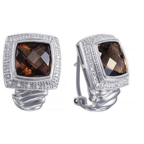 JV Серьги из золота с бриллиантами и топазами D680STC4W-SQ-WG