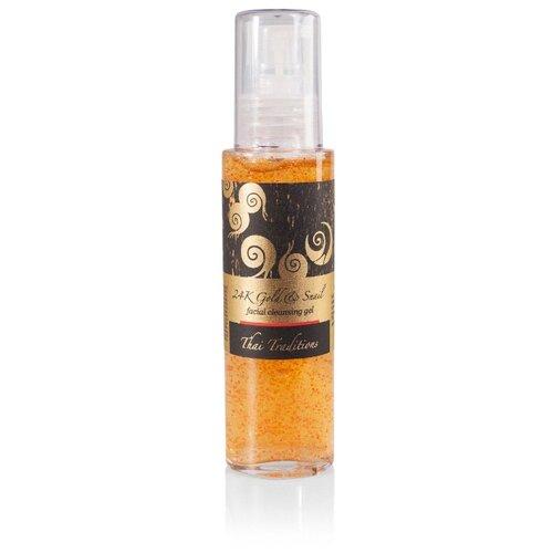 Гель Thai Traditions 24K Gold & Snail facial cleansing gel Золотая Улитка для умывания для лица 40+ 100 г