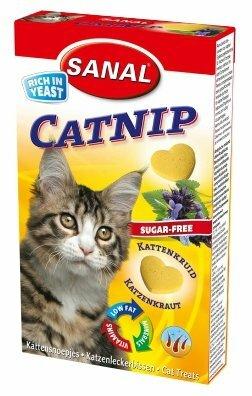 Добавка в корм SANAL Catnip с кошачьей мятой для кошек и котят