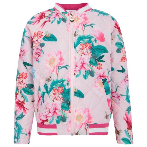 Купить Бомбер INFUNT Canary 0922113002 размер 140, розовый, Куртки и пуховики