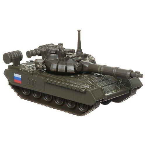 Купить Танк ТЕХНОПАРК Т-90 (SB-16-19-T90-G-WB) 12 см темно-зеленый, Машинки и техника