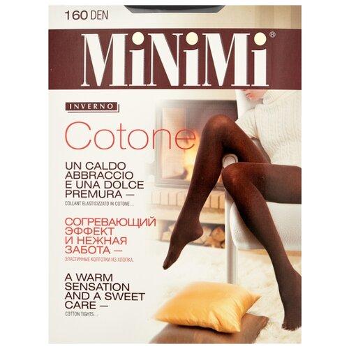 Колготки MiNiMi Cotone 160 den, размер 2-S/M, nero (черный) колготки minimi cotone 250 den размер 2 s m nero черный