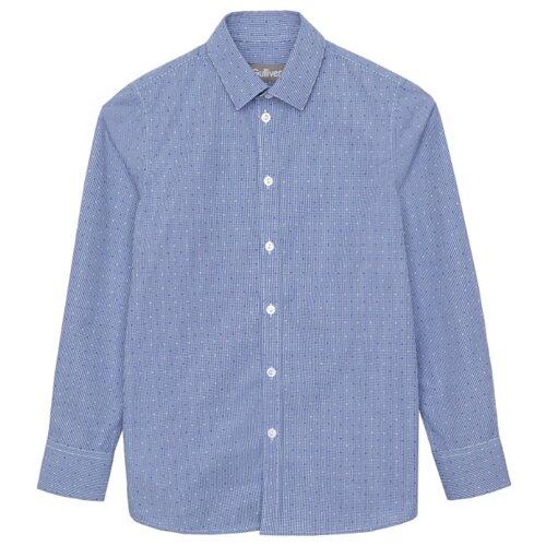 Рубашка Gulliver размер 128, синий пиджак gulliver размер 128 синий
