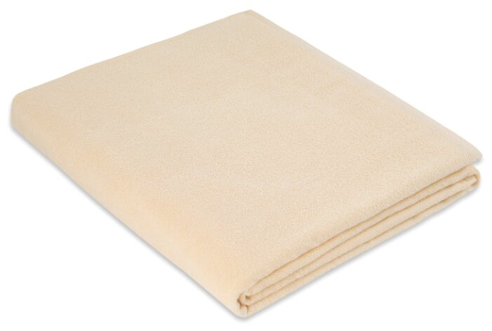 Простыня махровая цвет: ваниль 150х200